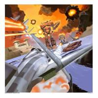 Sega Genesis Herzog Zwei 1990. Art Prints & Posters by Marc Ericksen
