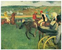The Race Track (Amateur Jockeys Near a Carriage)