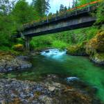 """0225 Canyon Creek at Third Bridge"" by vincentlouis"