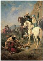 Falcon Hunting in Algeria, The Quarry (1862)