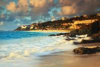 Morning surf on the rocks, Dawn Beach, St. Maarten