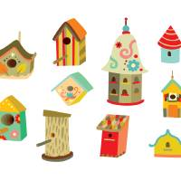 Birdhouses Art Prints & Posters by Adina Conisceac