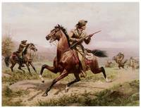 Buffalo Bill Fighting Indians (c. 1885)