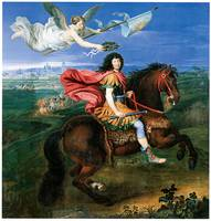 Louis XIV dressed in Roman Style