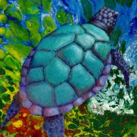 Psychedelic Turtle Art Prints & Posters by Susan Robinson