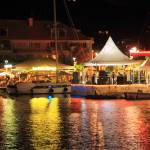 """Marina at Night during Carnival, Marigot, St. Mart"" by RoupenBaker"