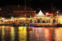Marina at Night during Carnival, Marigot, St. Mart