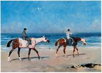 Race Horses on the Beach