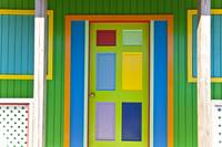 Colorful door in the Bahamas