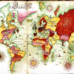 """MAP OF THE WORLD 1765"" by imageworks"