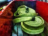 Coiled Fire Hoses