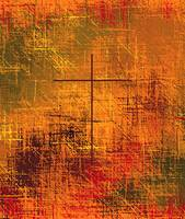 Christian Abstract Golden Earth Tones Close-up