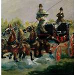 """""""Alphonse de Toulouse-Lautrec Driving"""" by ArtLoversOnline"""