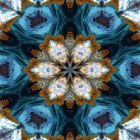 Majestic Kaleidoscope 1. Modern Art Art Prints & Posters by Mark Lawrence