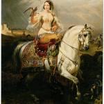 """""""An Algerian Lady Hawking (1839)"""" by ArtLoversOnline"""