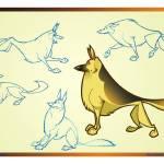 """Animated German Shepherd"" by artofroberttsai"