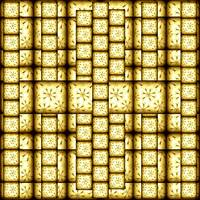 Antique Yellow Sproing Block Pattern