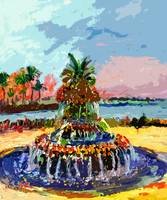 Charleston South Carolina Pineapple Fountain Paint