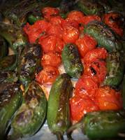 Roasted Jalapenos and Tomatoes