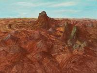 Inland Australia, 1950 (oil & enamel paint on boar