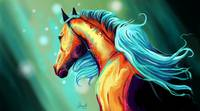 Large Digital Horse Painting
