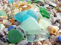 SEAGLASS art prints Blue Sea Glass Beach Coastal