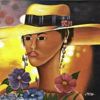 Yellow Hat Art Prints & Posters by Shell Harris