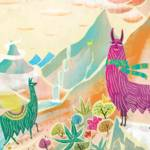 """Llamas in the mountain"" by Migy"