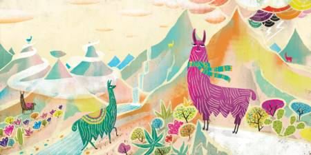 Llamas in the mountain