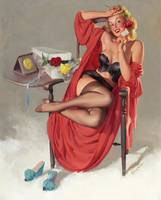 Gil Elvgren - Flower Surprise Pin-up Girl