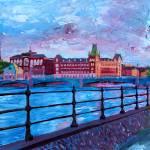 """Stockholm City View - Old Town Riddarholmen"" by arthop77"