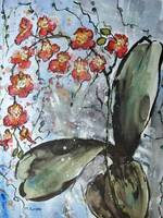 Orchid Painting on Canvas Original Art for sale