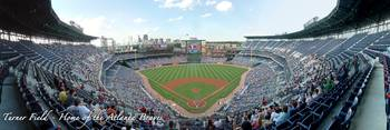 Atlanta Braves Panorama Turner Field Upper Box 402