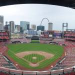 """Busch Stadium Panorama - St. Louis Cardinals"" by augiespanoramas"