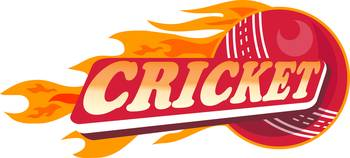 cricket sports ball flames