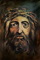 Christ with thorn crown.