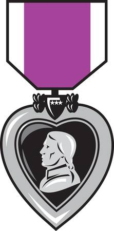 military medal of bravery valor purple heart