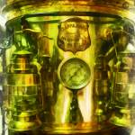 """Gauge And Two Brass Lanterns On Fire T"" by susansartgallery"