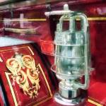 """Lantern On Old Fire Truck"" by susansartgallery"