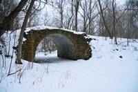 Snow Covered Stone Bridge | Stillwater, Minnesota