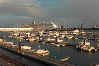 Marina in Azores islands