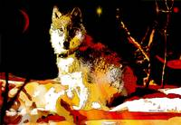 Red Wolf Abstract