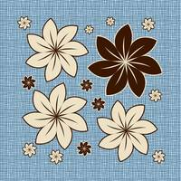 Floral design on blue