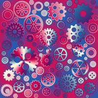 Colorful metallic gears
