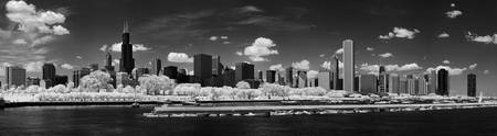 Chicago Skyline Panorama in Infrared
