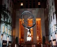 Rockefeller Center, Atlas, Night