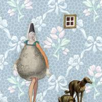 A Pear of Dogs Art Prints & Posters by Jane LeBlanc