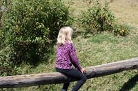 Young Girl Balancing on a Log