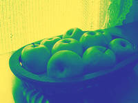Apples in Yellow Blue and Green