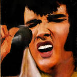 """Elvis Presley 1973"" by Anarchemist"